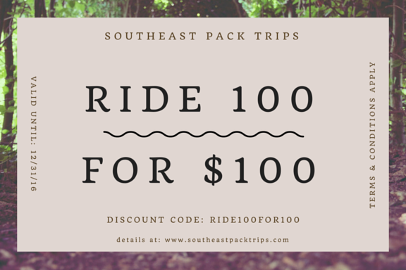 Ride 100 for $100 discount