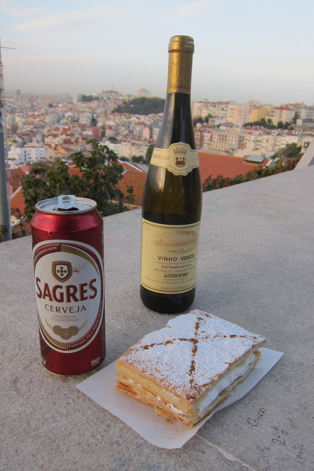 Sagres beer, vinho verde and delicious pastries pretty much sum up my favorite food experiences in Lisbon.