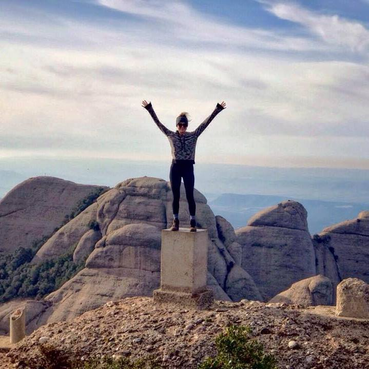 On top of Montserrat, a gorgeous mountain hike right outside Barcelona.