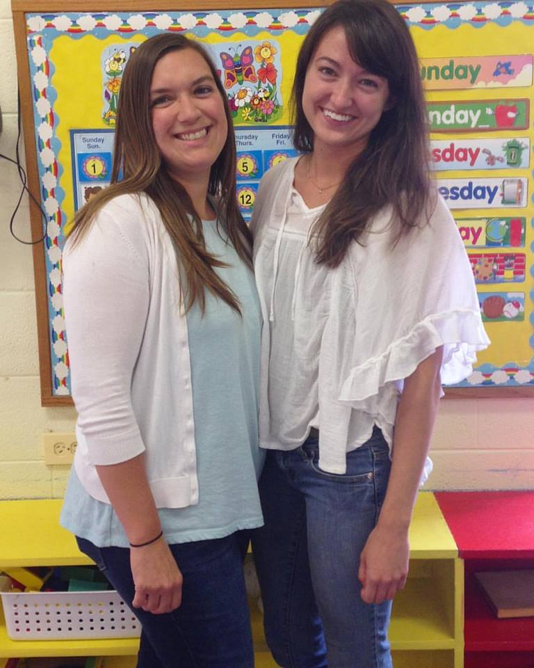 Me and my co-teacher, Jill. Still can't look at this picture without getting emotional. This was my last day before moving to Spain and we were both fighting back tears. Best two year old teacher team ever. :)