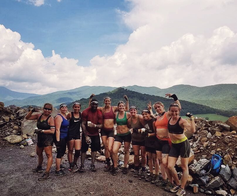 Our team during the Spartan Race in Asheville, NC in August 2016