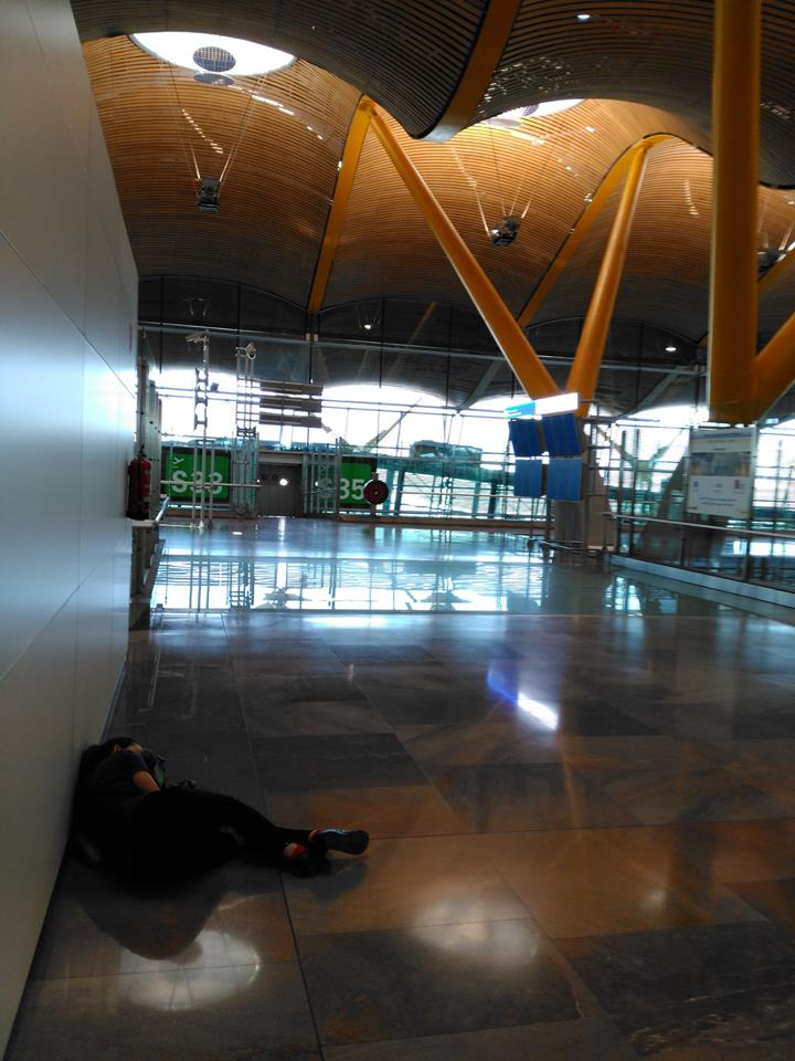 Me sleeping on the floor in the Madrid airport. We tackled Knoxville, TN, The Great Smoky Mountains, New York, New York, Madrid, Spain, and Sevilla for Semana Santa all in a little over a week. Whew!
