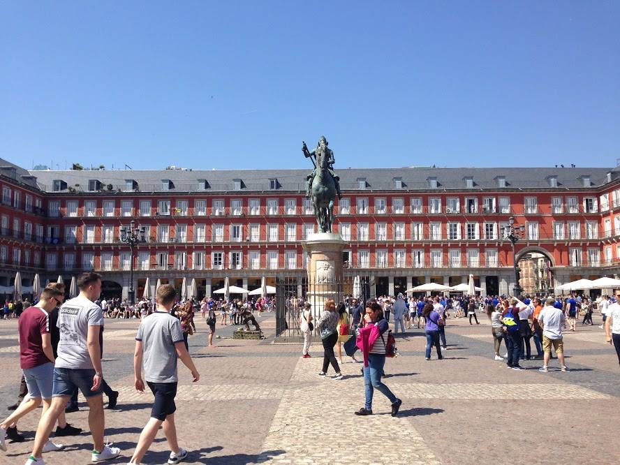 Plaza Mayor in Madrid, Spain.