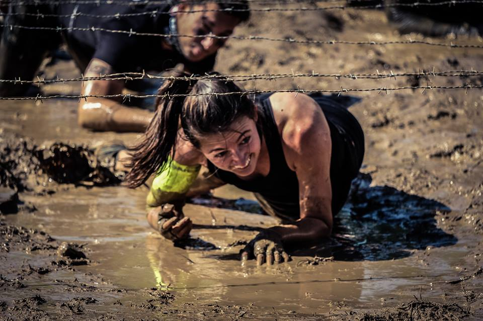 Me nearing the end of my Spartan Sprint, April 23, 2017, Madrid, Spain