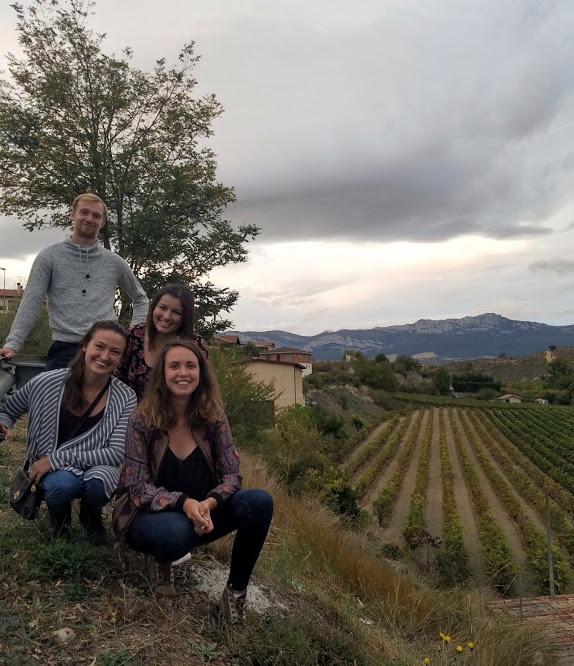 When our friends Gabriella and Lea visited we went to Elciego and naturally had to pose in front of all the pretty vines.