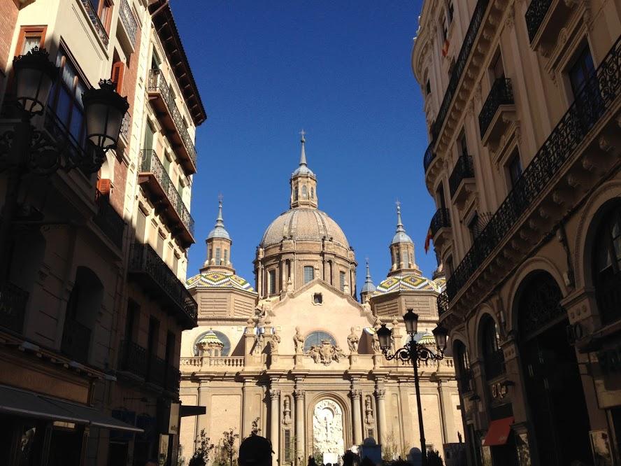 The beautiful Catedral-basílica de Nuestra Señora del Pilar in Zaragoza
