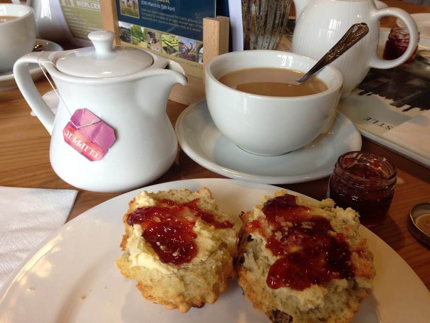 Cream tea at the castle