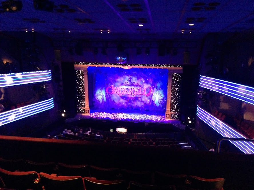 Our first pantomime show: Cinderella featuring Louie Spence.
