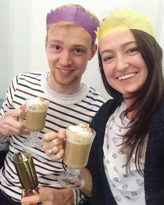 Irish coffees and Christmas crackers by the pier