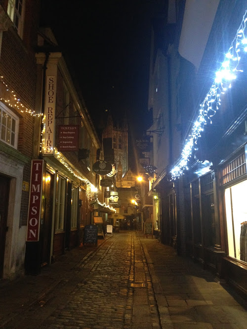 Christmas lights in Canterbury