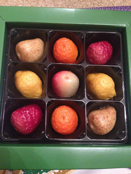 traditional marzipan fruits