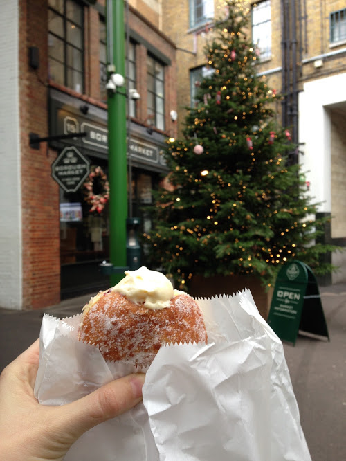 Heavenly donut from Bread Ahead at Borough Market