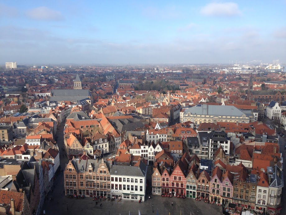 View from the Bell Tower in Bruges
