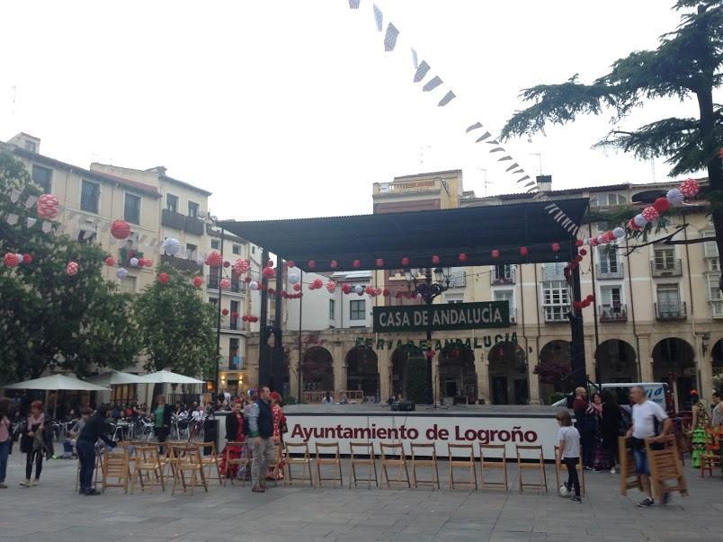 Sevilla-esque Feria in Logroño