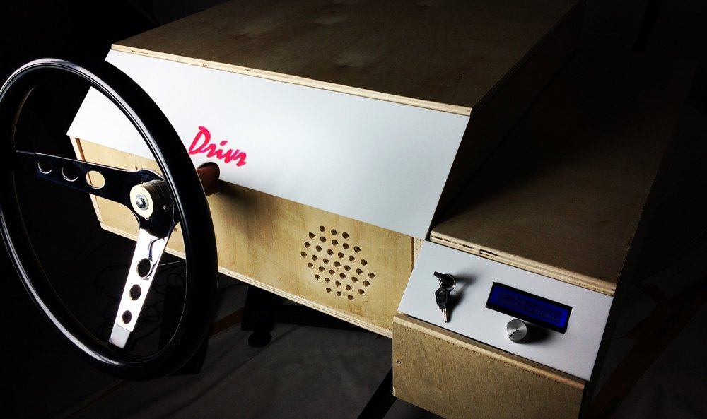 Drivr - a virtual joyride through Hollywood's fastest moviesarduino, fabrication