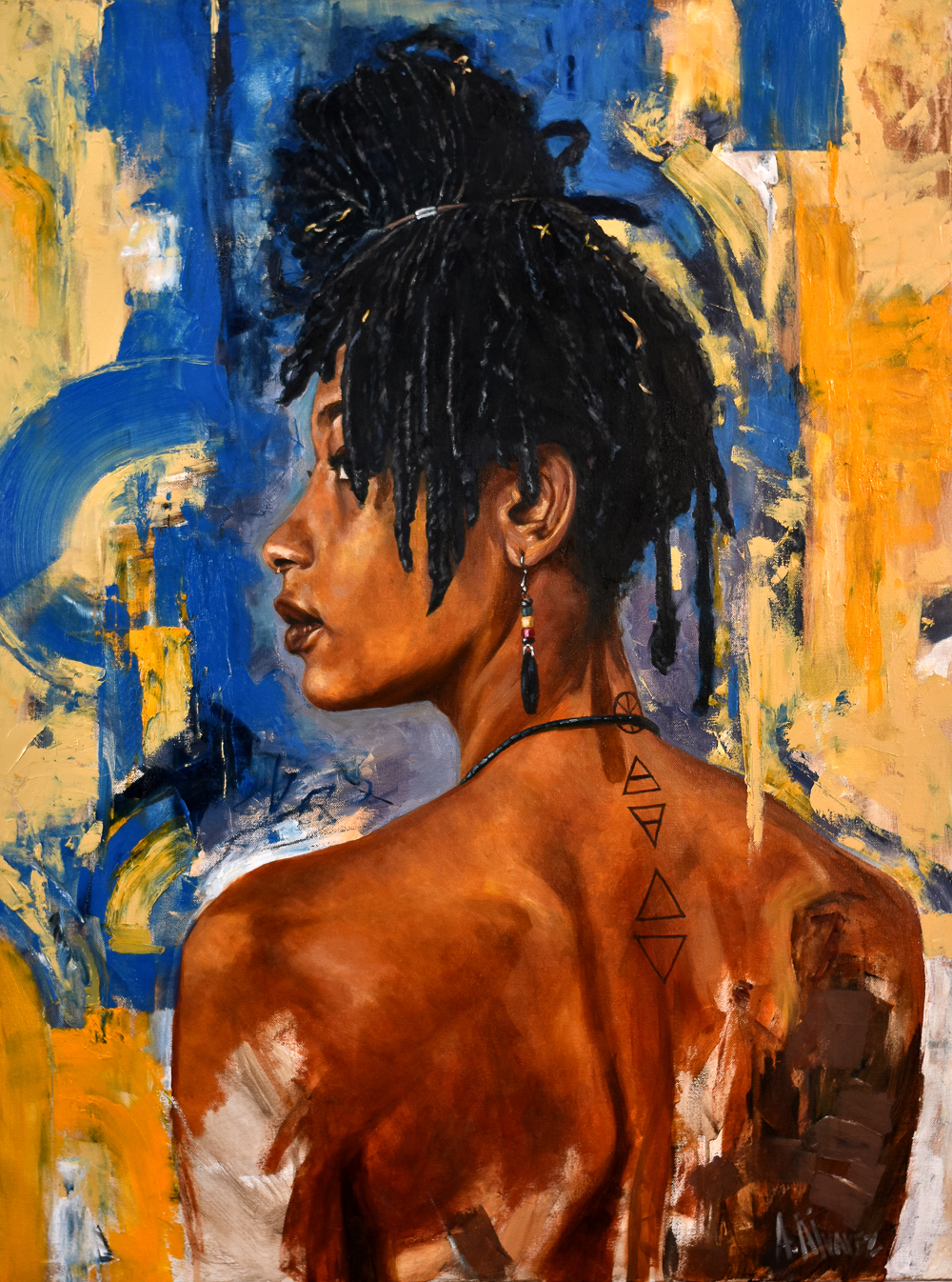 """Rae"" • 30"" x 40"" - Oil on canvas ($1,200) - SOLD"