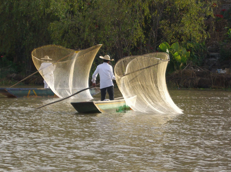 """""""Reconstitution of the traditional fishing on Lake Pátzcuaro, Mexico"""" by Régis Lachaume"""
