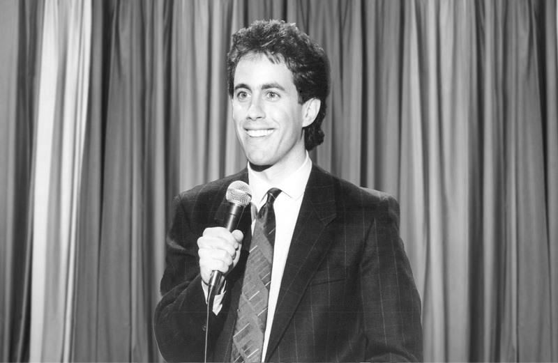 "A young Jerry Seinfeld on ""The Tonight Show"" starring Johnny Carson"