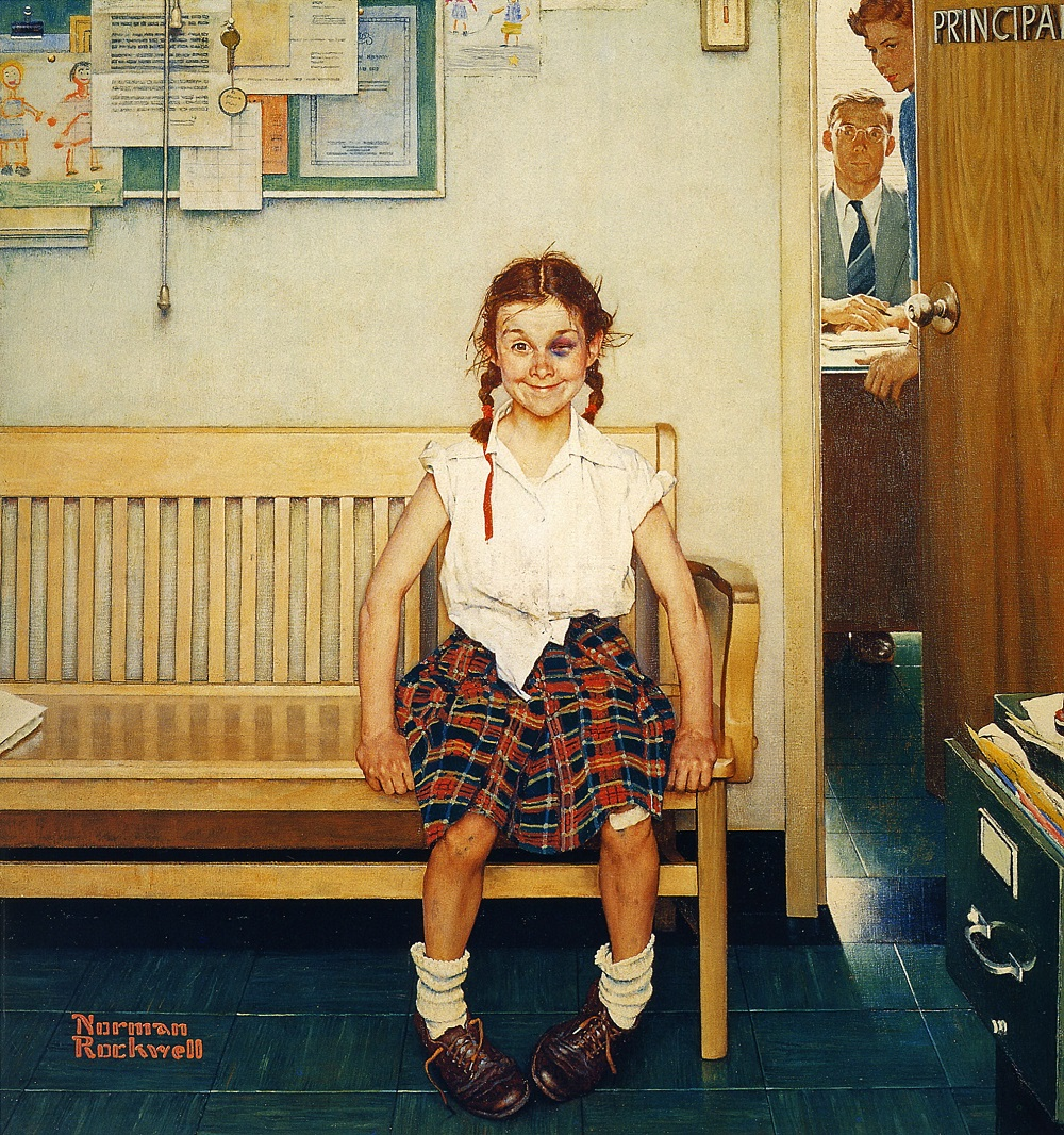 (The Shiner | Norman Rockwell, May 23, 1953)