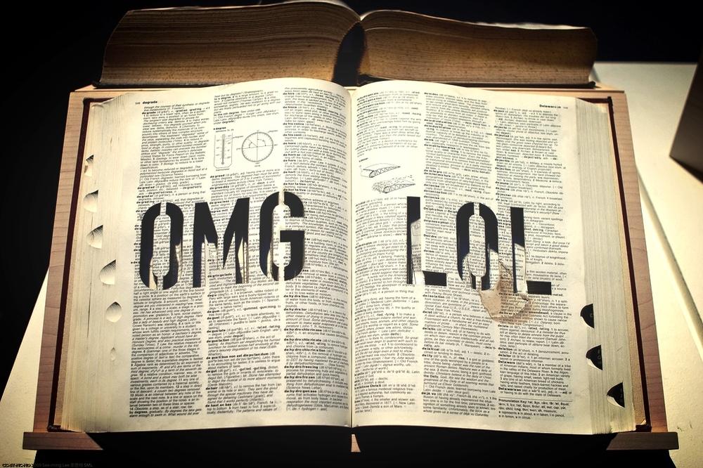 """OMG LOL"" BY MICHAEL MANDIBERG. PHOTO BY SEE-MING LEE."