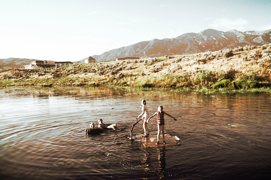 (Children Playing in a Lake | Linda Bartlett)