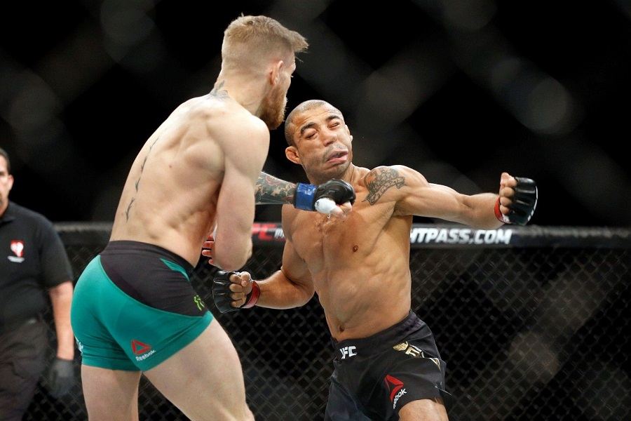 Conor McGregor and Jose Aldo