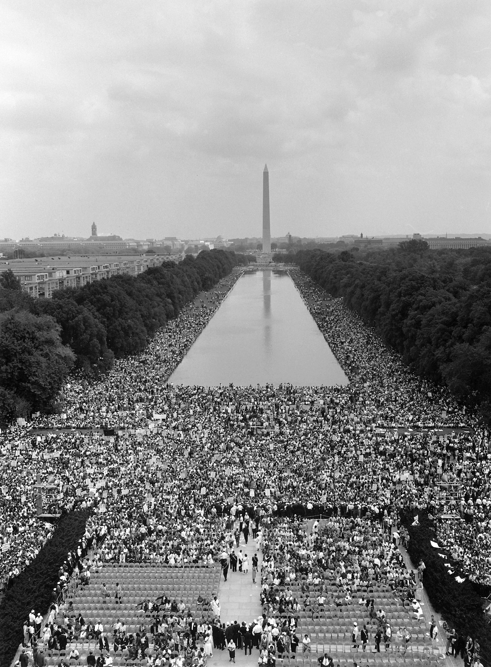 A moment of solidarity, Lincoln Memorial Aug. 28, 1963