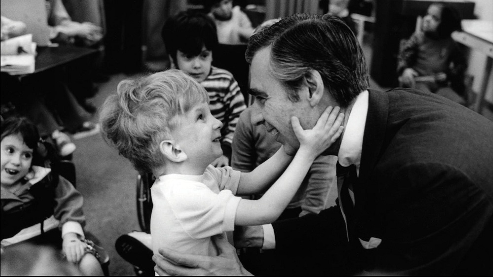 (Fred Rogers visiting children with disabilities at The Children's Institute in Pittsburgh | Photo by Jim Judkis)