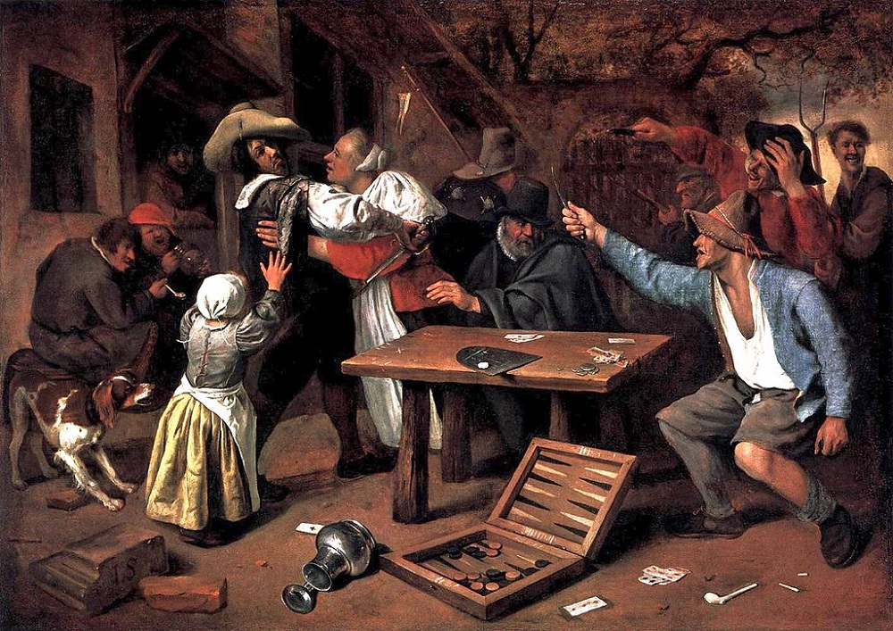 (Argument over a Card Game | Jan Steen)