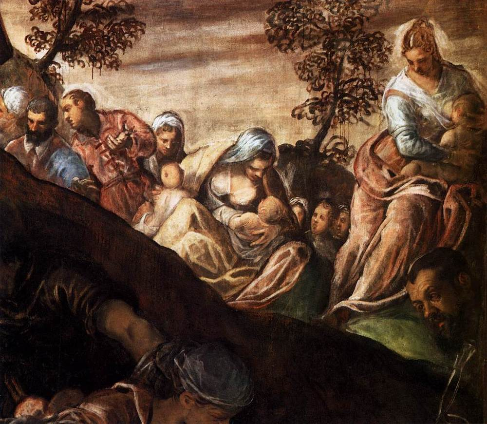 ( The Miracle of the Loaves and Fishes  | Tintoretto 1518–1594)