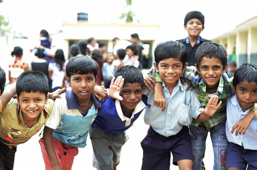 (Children at MPPS Ramachandrapuran   Shlok Nikhil)