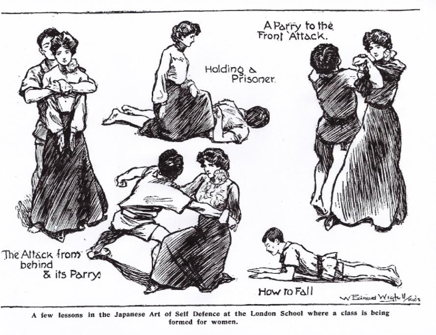 Women's jiu-jitsu classes at the London School circa 1905