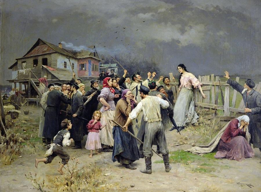 "(""Victim of Fanaticism"" circa 1899 | Mykola Pymonenko)"