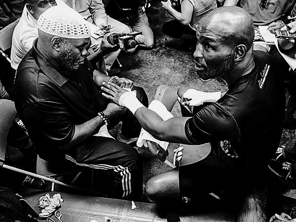 Naazim Richardson with Bernard Hopkins