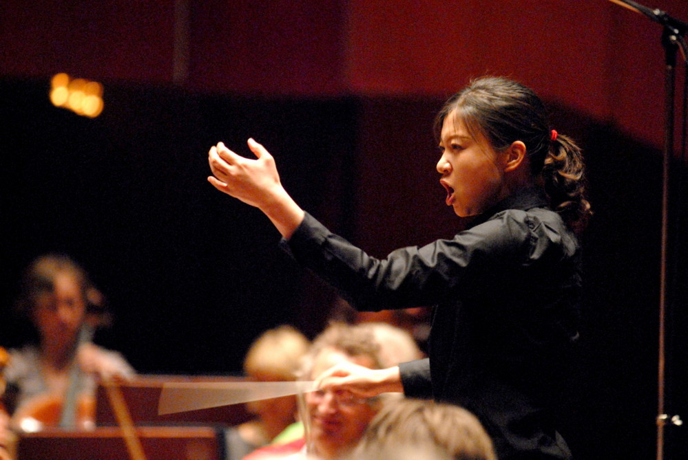 Shi-Yeon Sung was the first woman to win first prize in the Sir Georg Solti International Conductors Competition