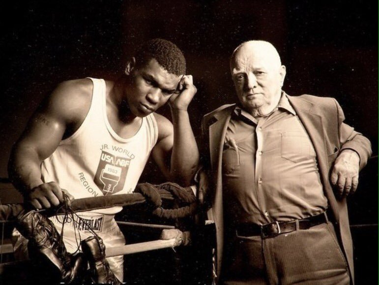 Cus D'Amato and a young Mike Tyson