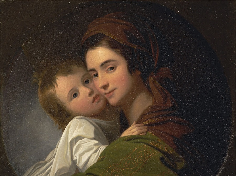 ( The Artist's Wife Elizabeth and Their Son Raphael  | Benjamin West, circa 1773)