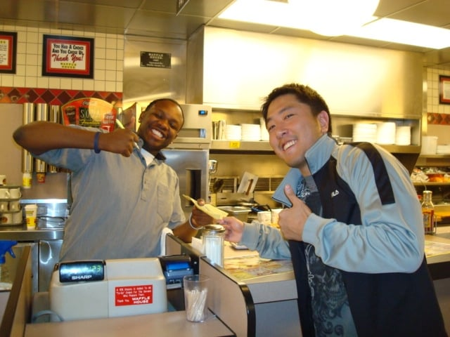My first time at Waffle House and decided to make a friend