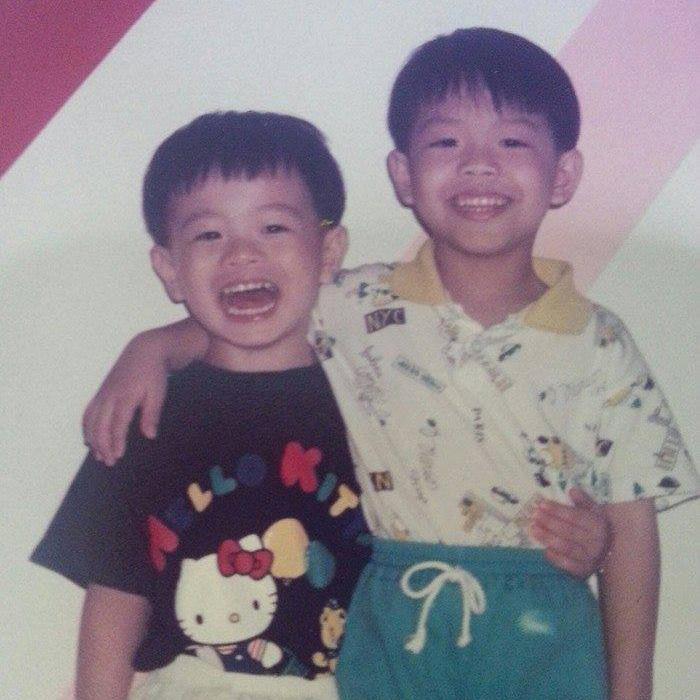 bro and me