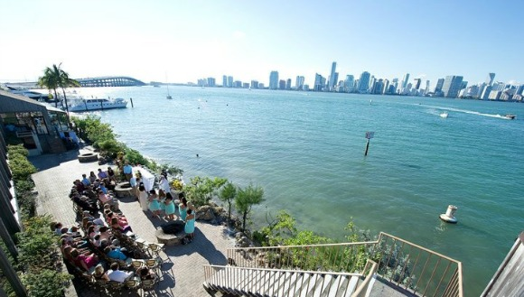 In the most sweeping restaurant view of Miami's skyline you'll find, this Key Biscayne landmark has been a brunch, wedding and special occasion staple for over 40 years. Looking west over Biscayne Bay one can watch Miami's boom and bust economy as cranes and condos have made this view more dynamic as the years go on.