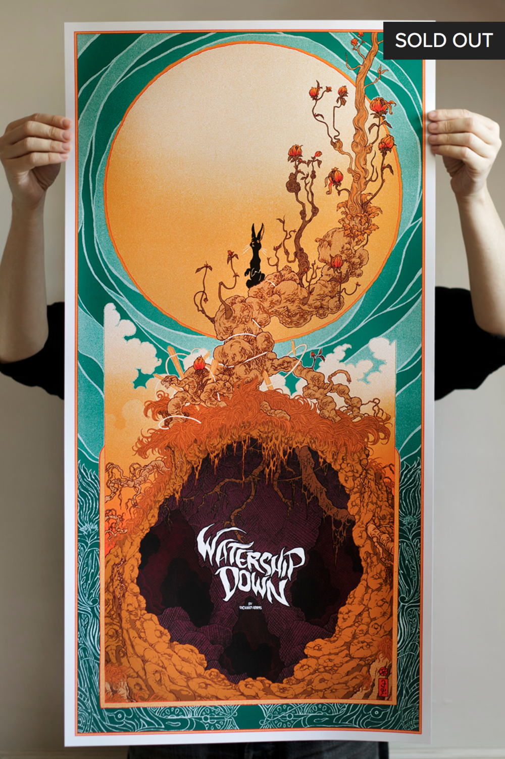 'Watership Down' AP - SOLD OUTArtist's Proof copy9-colour screen print, signed and numberedPrinted by D&LOnly 15 were made, and hardly any remain!€110.00 + shipping
