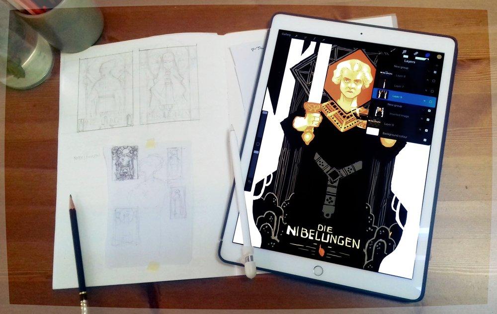 Regular Sketchbook, Magic Sketchbook. A match made in heaven.