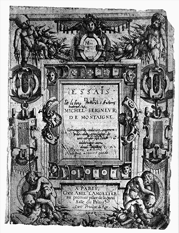 Michel de Montaigne, Essais