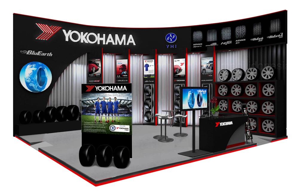 YOKOHAMA Stand auf indonesischer Auto Messe 2015