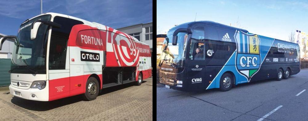 Mannschaftsbus von #FortunaDüsseldorf #F95 und vom #ChemnitzerFC