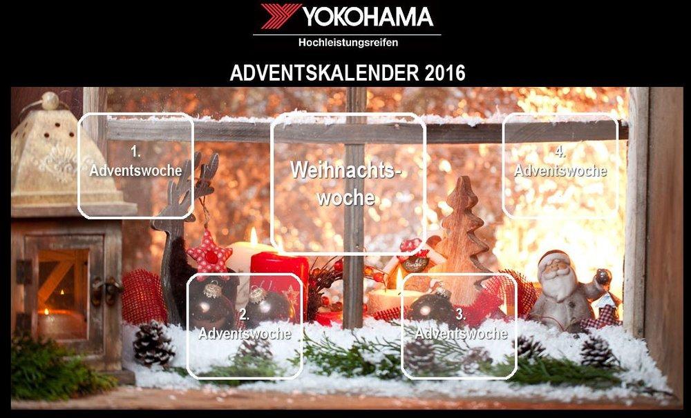 YOKOHAMA Adventskalender Weihnachtsgewinnspiel