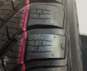 Rot markierte Lamellen und Verschleißindikator