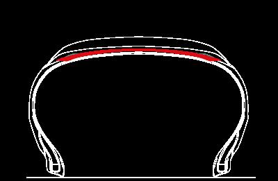 Untergummi-Mischung Neu! Reduzierte Wärmeentwicklung im Untergummi bei gleichbleibender Stabilität.