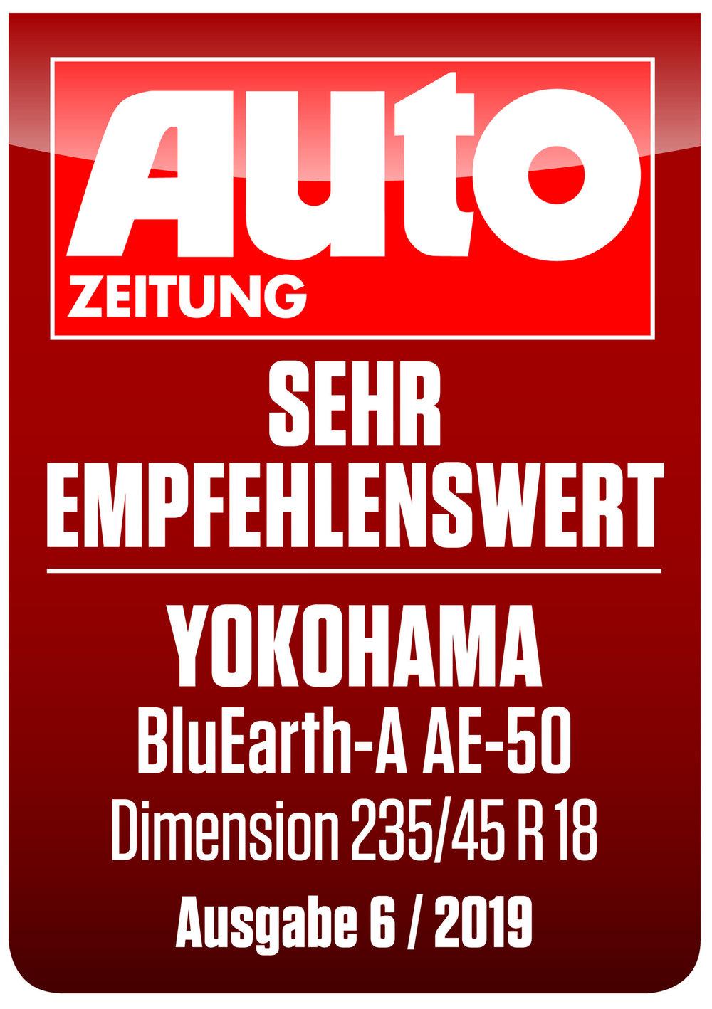 AUTOZEITUNG+YOKOHAMA+BluEarth+sehr+empfehlenswert