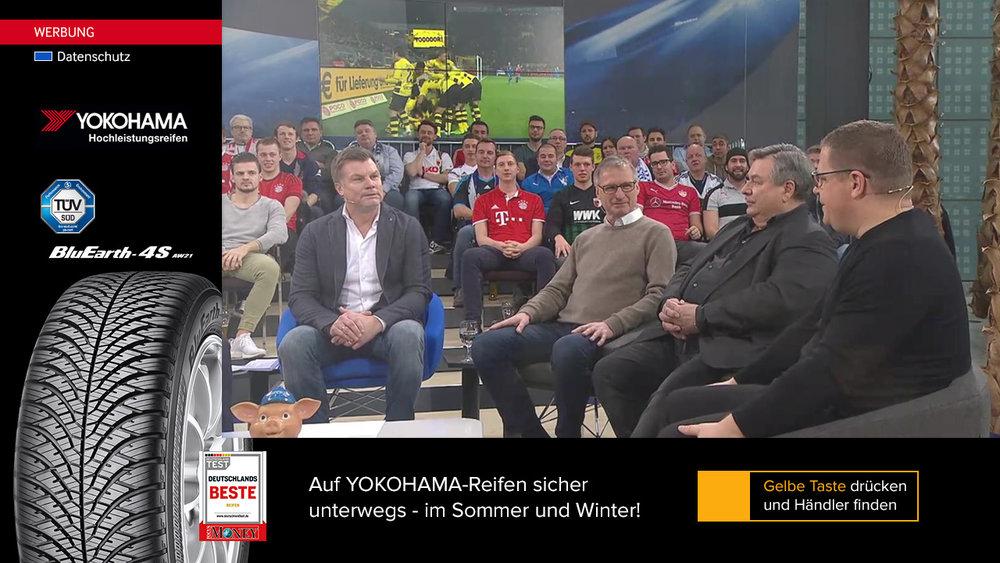 YOKOHAMA Wetterpräsentation auf Sport1